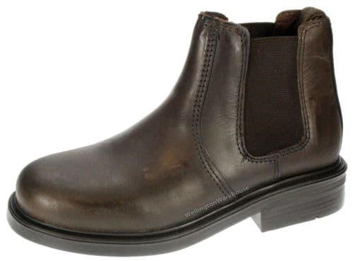 Oaktrak Kids Chocolate Brown Walton Leather Dealer Jodhpur Boots